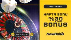 Haftasonu Canlı Casino'da 'a Varan Bonus!