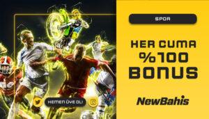 Her Cuma %100 Spor Bonusu!