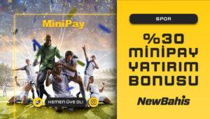 Spor Alanında %30 Minipay Bonusu!